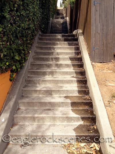 Climbing these stairs is great exercise! Especially for your behind.