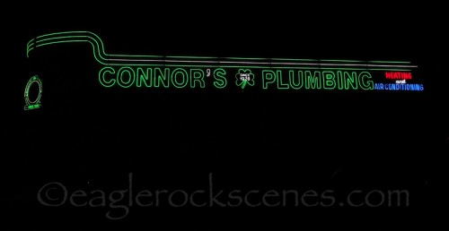 Connors Plumbing from side, normal shutter speed