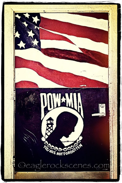 Memorial Day 2012 - Doorway of American Legion Post 276, Eagle Rock, CA