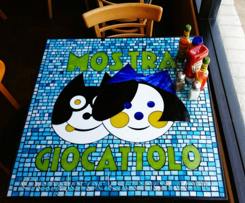 A tile top table at Coffee Table
