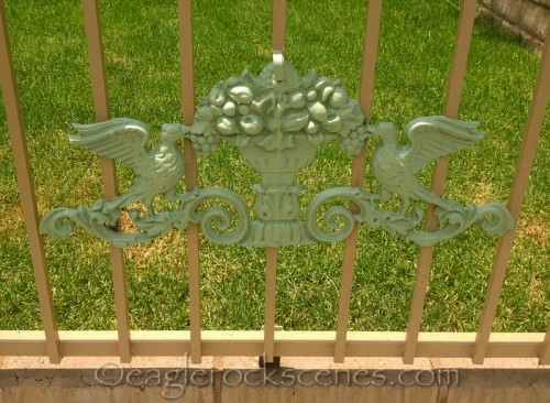 Ornamental Iron piece in green
