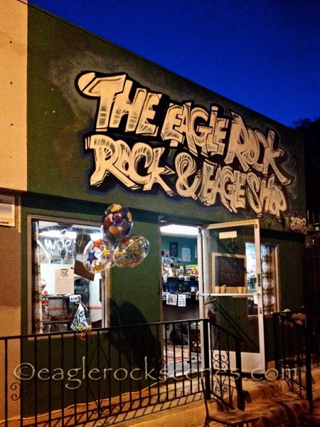 The Eagle Rock Rock and Eagle Shop storefront