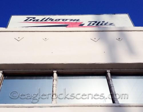 Ballroom Blitz sign
