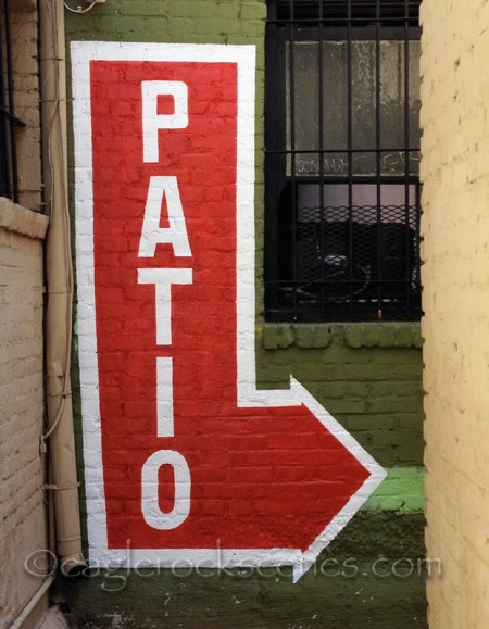 Do you think there's a patio to the right?