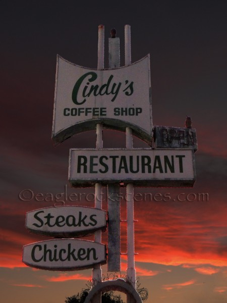 The Cindy's Restaurant Sign after Photoshop