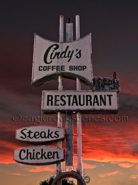 The Cindy's Restaurant sign with the Daily Vitamin effect
