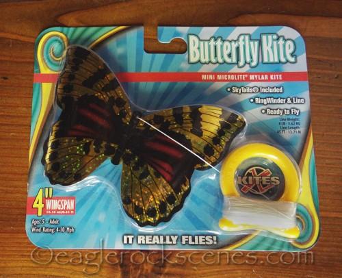 Butterfly Kite, still in its packaging