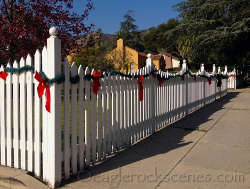 Christmas Fence with just a bit of Photoshop