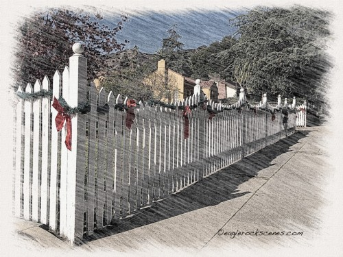 Christmas fence with Sketch app and Photoshop