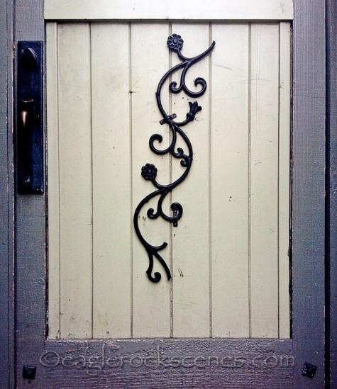 Wrought iron ornamental door accent