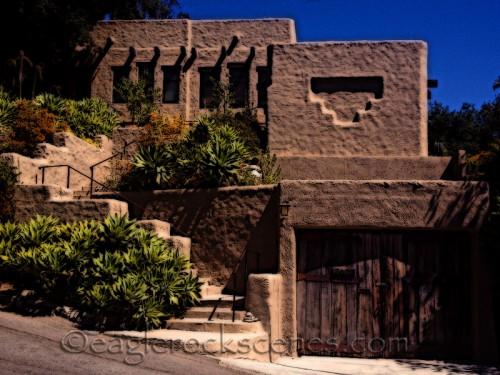 a Pueblo style home