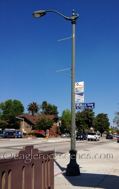 Street Lamp on the southwest corner of Colorado Bl. and Highland View