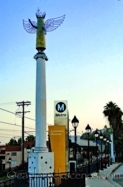 Gold Line, Southwest Museum Station, street view