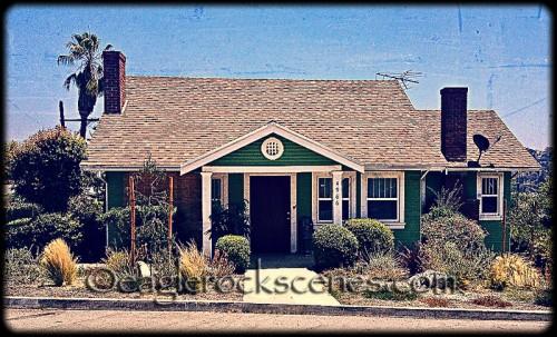 A vintage craftsman house
