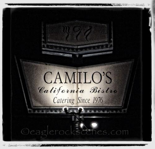Camilo's California Bistro sign