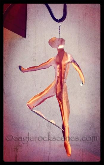 Metal Dancer Sculpture - front