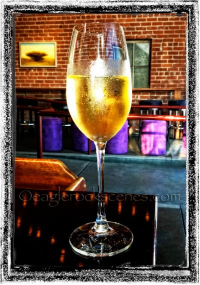 Sparkling wine at Fatty's Cafe