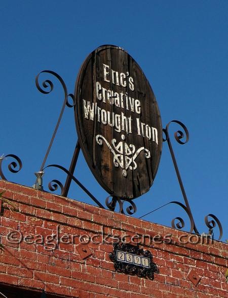 Eric's Creative Wrought Iron sign
