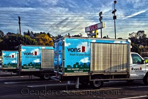 Vons delivery trucks