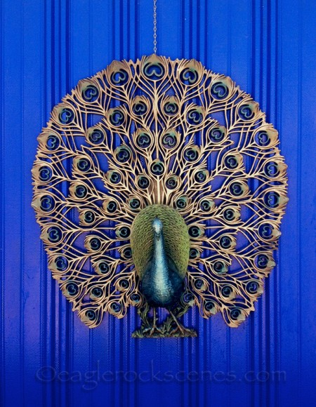 Garage door peacock