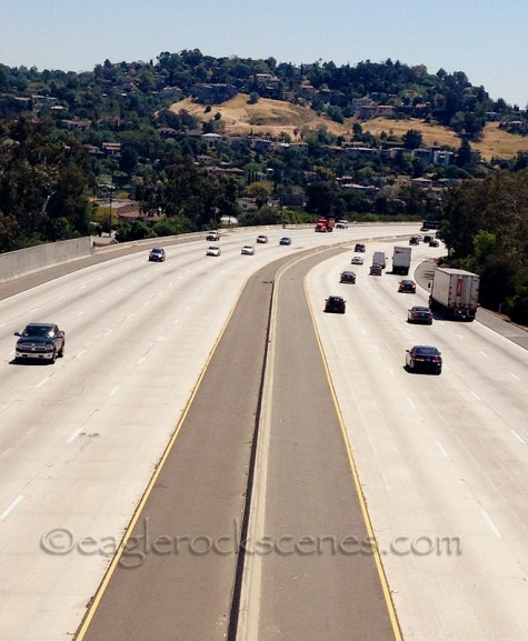 The 2 freeway, facing south