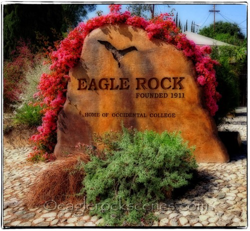 Eagle Rock rock sign
