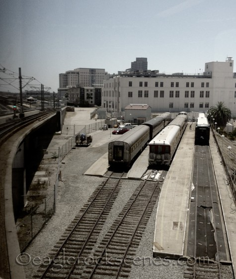 The Gold Line south to Union Station
