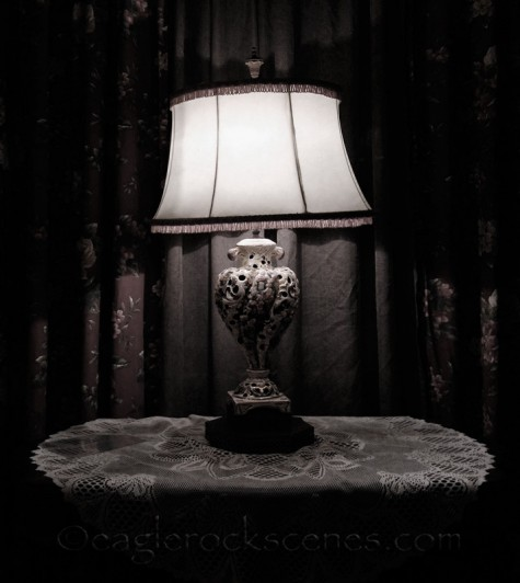 Vintage table and lamp