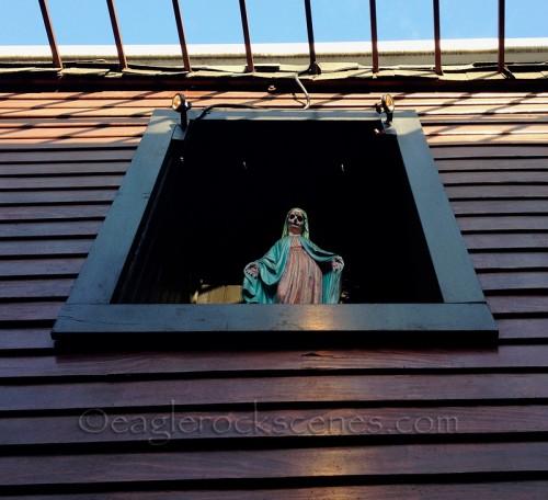 Creepy art at Eastside Luv