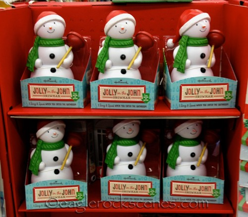 Jolly in the John snowmen at Walgreens